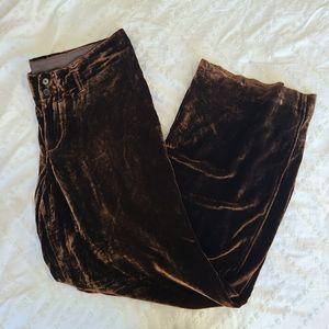 Alberto Aspesi Designer Luxury Brown Velvet Pants